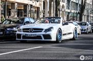 Un Mercedes-Benz SL 55 AMG tunat apare in Königsallee