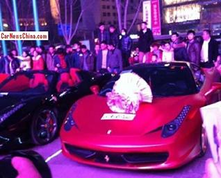 Vriendin geeft ja-woord en krijgt Ferrari 458 Italia