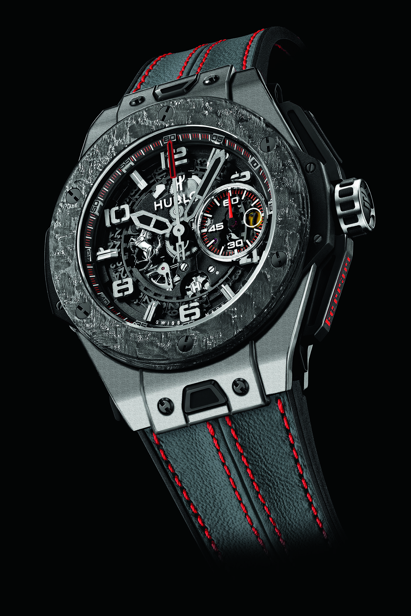 Hublot toont Ferrari Big Bang Carbon Titanium & Carbon Gold