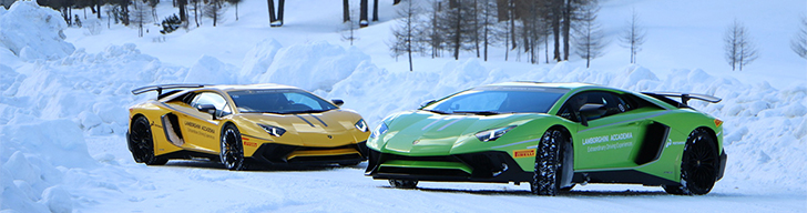 Lamborghini Accademia is having fun in Livigno