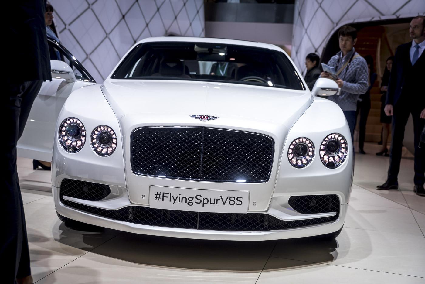 Purple Front Door Geneva 2016 Bentley Flying Spur V8 S