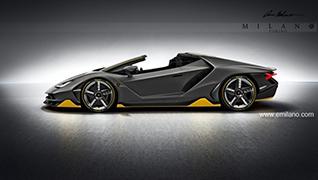 Rendering: Lamborghini Centenario Roadster