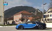 La Bugatti Chiron rend visite à l'horloger Parmagiani Fleurier.