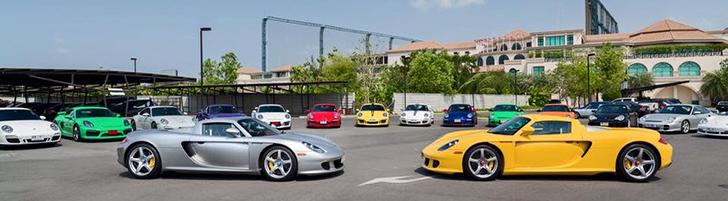 Colorful Porsche Club Thailand Meeting