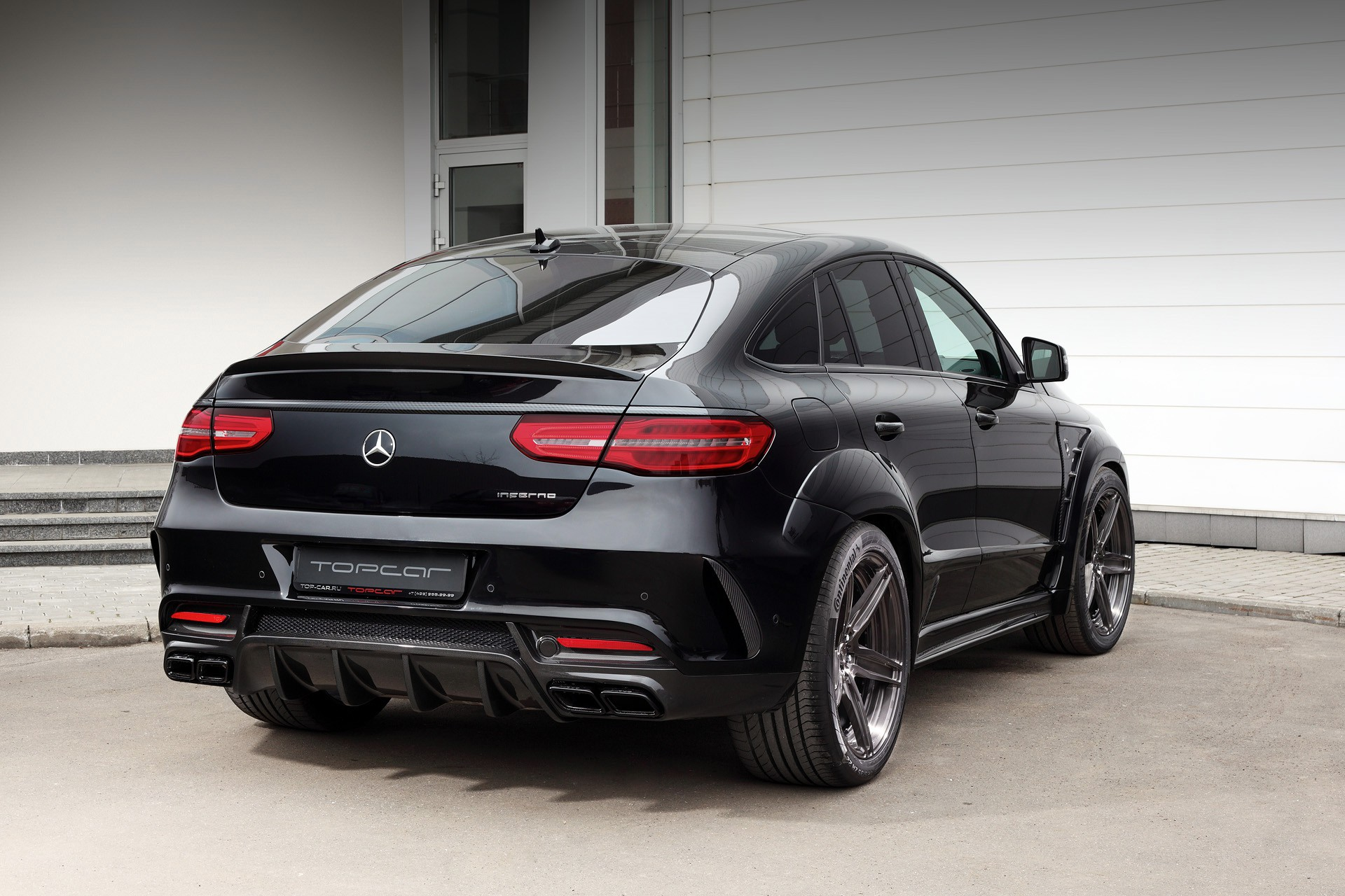 topcar equips the mercedes amg gle 63 with an inferno bodykit. Black Bedroom Furniture Sets. Home Design Ideas