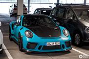 Miami Blue Porsche 991 GT3 RS MkII met Weissach Package is sexy