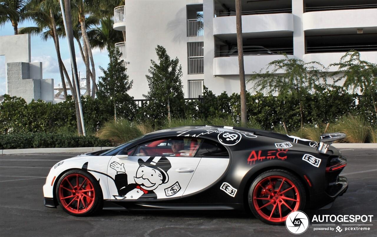 Bugatti Chiron gespot met vreemde wrap