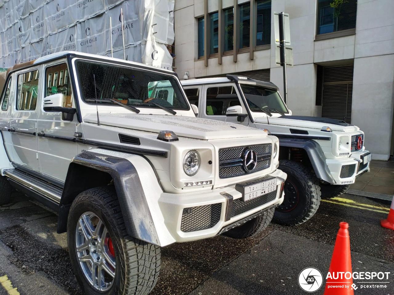 Bijzondere Mercedes-Benz G-Klasse combo gespot in Londen