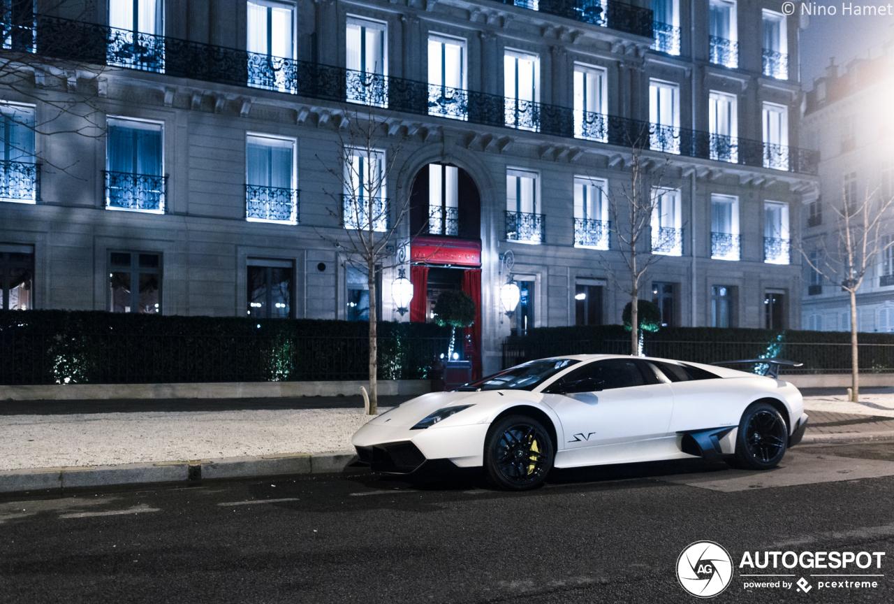 Lamborghini Murciélago LP670-SV is een echt nachtdier