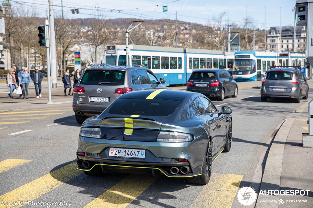 Sportieve Aston Martin Rapide S AMR gespot in Zürich