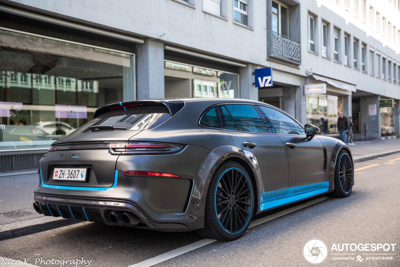 Topspot: opgepompte Porsche Panamera door Techart