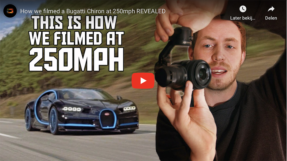 How was Bugatti's record attempt filmed?