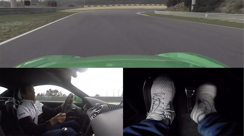 Filmpje: Mark Webber heeft aardig voetenwerk in Porsche