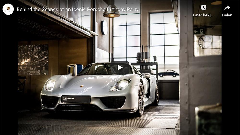 Filmpje: Porsche trio viert hun verjaardag