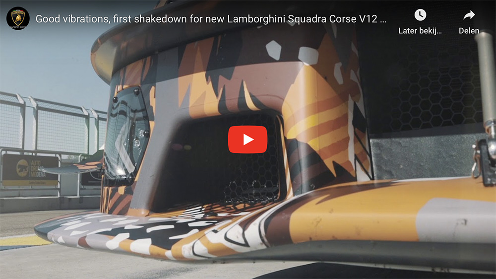 Lamborghini onderwerpt Squadra Corse Hypercar aan eerste tests