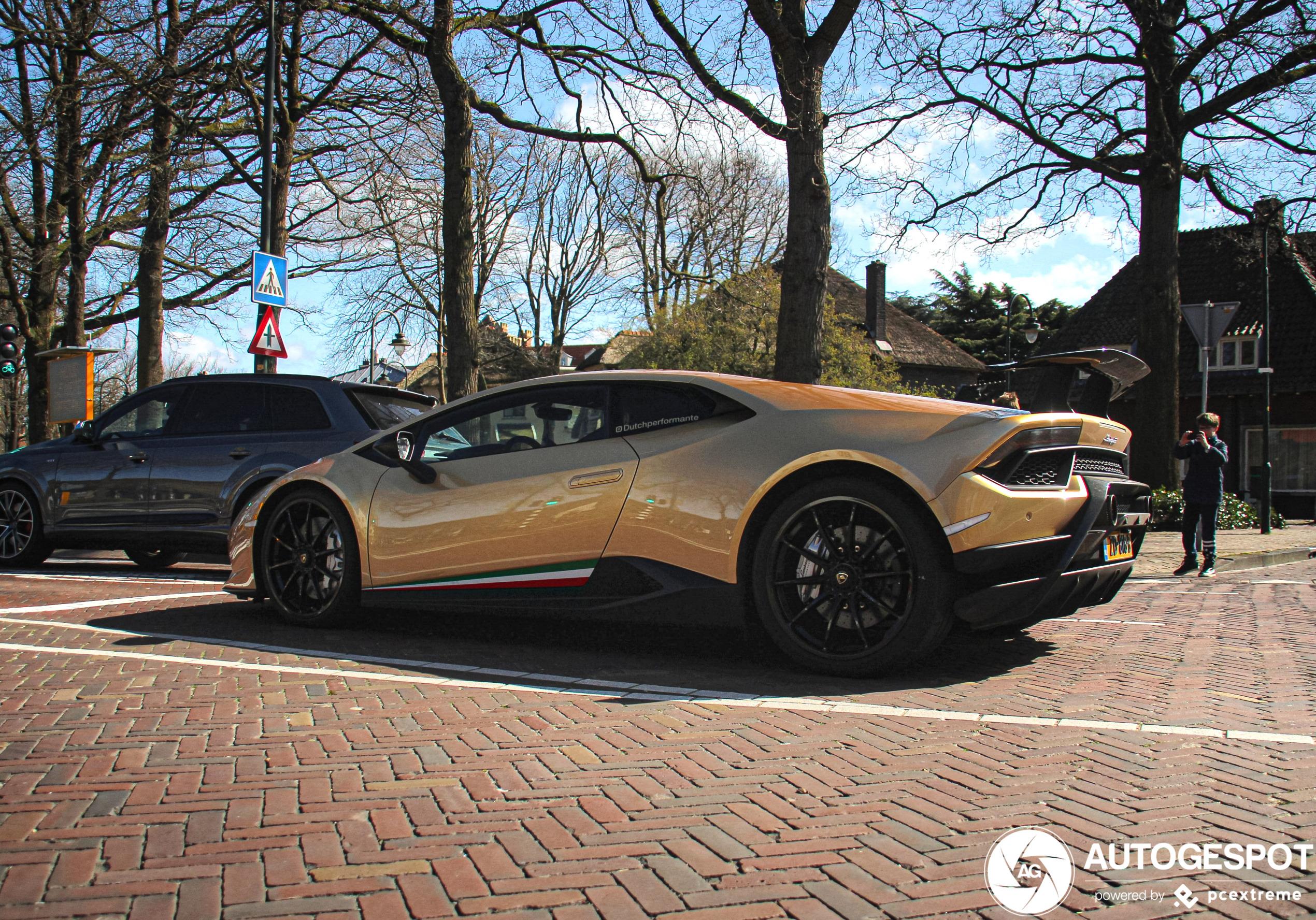 Spot van de dag: Lamborghini Huracán Performante in Laren
