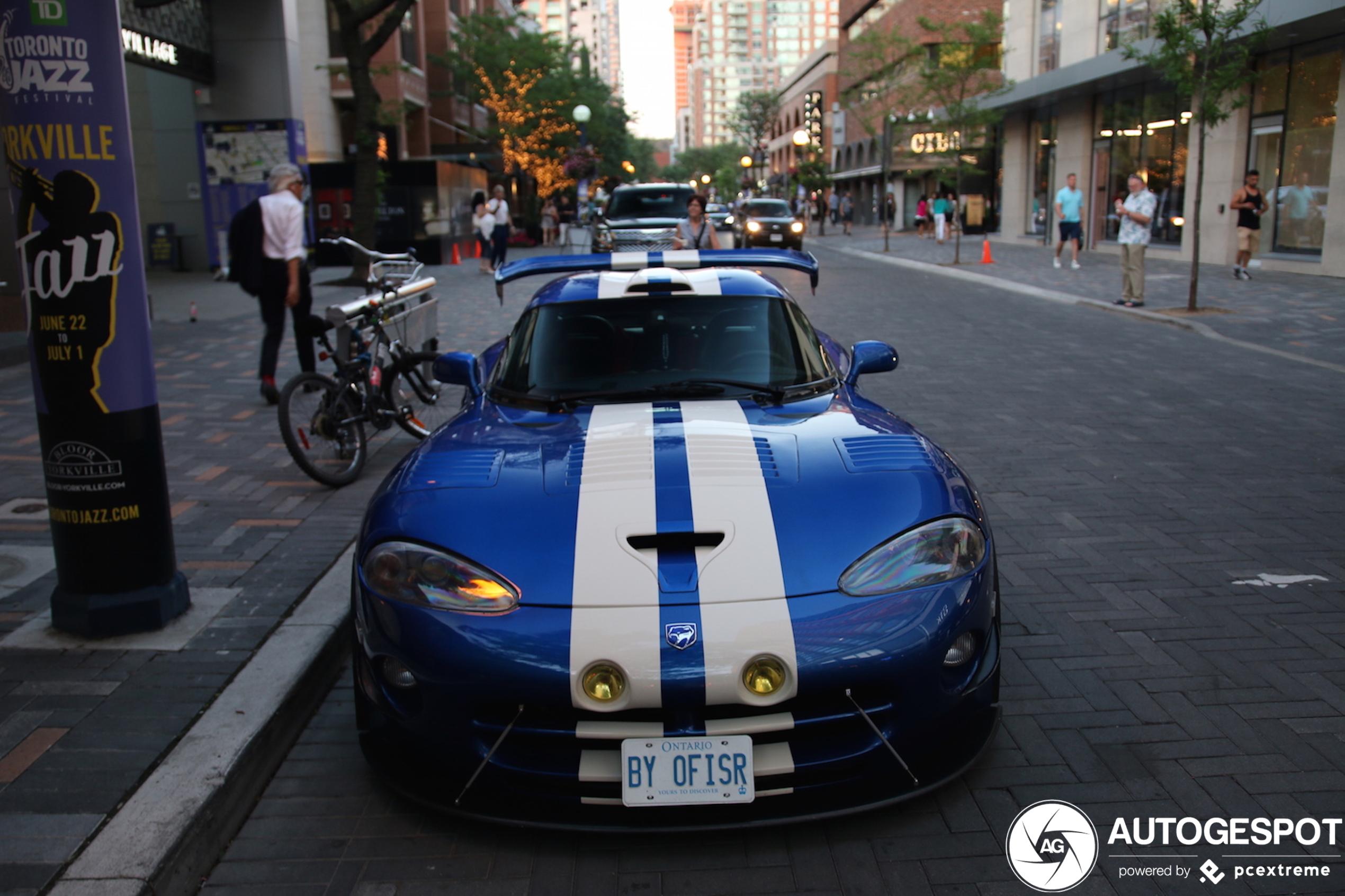Dodge Viper GTS R heeft het leukste kenteken van deze week