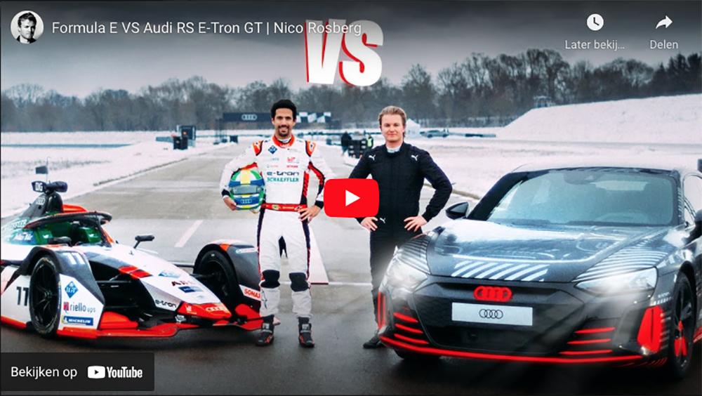 Nico Rosberg laat ons de Audi RS E-Tron GT zien