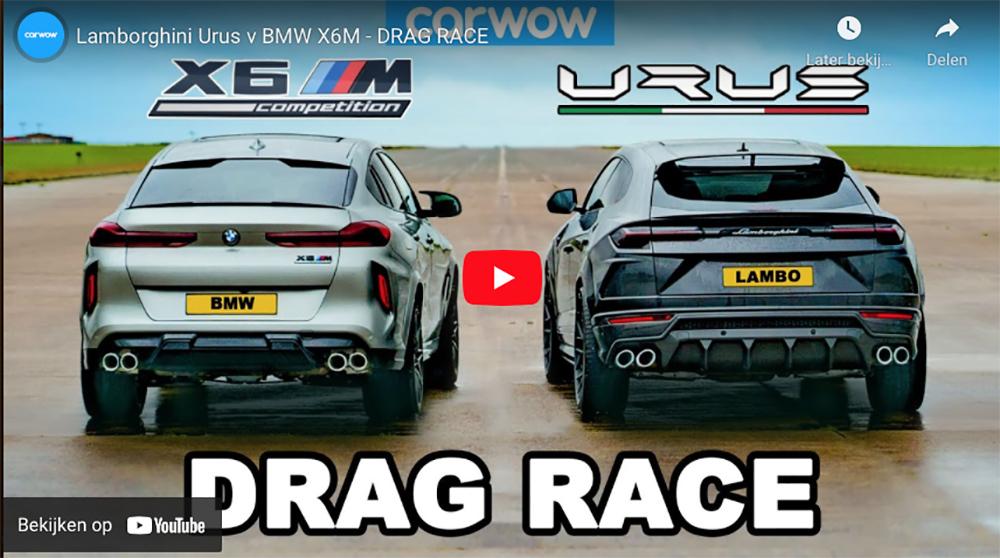 Filmpje: BMW X6 M Competition neemt het op tegen Lamborghini Urus