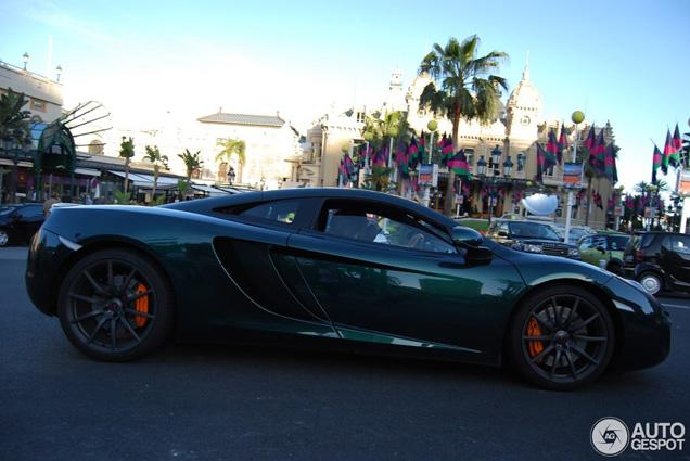 Ook mooi in het groen: McLaren MP4-12C