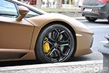 Le brun mat convient bien à la Lamborghini Aventador LP700-4