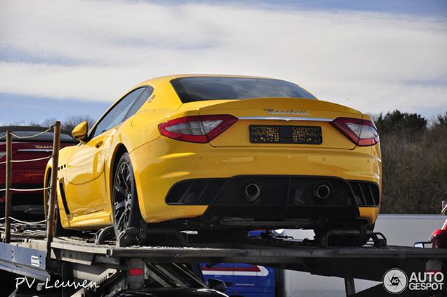 Italian beauty: yellow Maserati GranTurismo MC Stradale