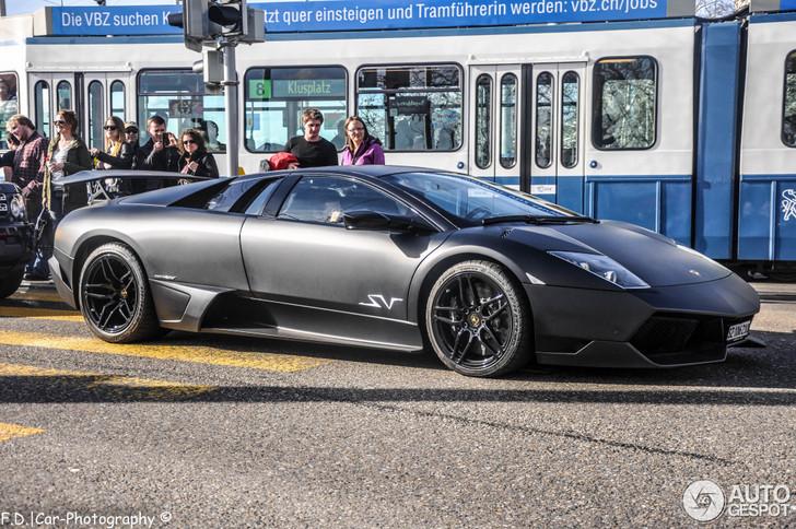Lamborghini Murcielago Lp670 4 Sv Looks Awesome In Matte Black