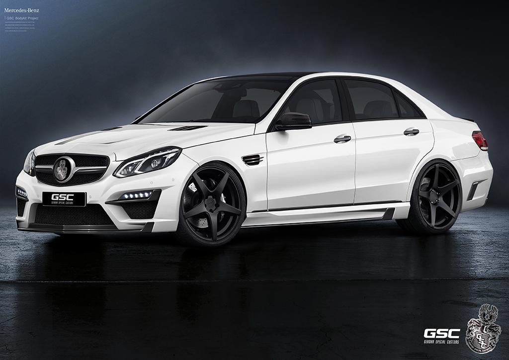 German special customs waagt zich aan mercedes benz e klasse for Mercedes benz e350 aftermarket parts