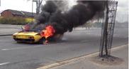 Quelle horreur ! Une Lamborghini Miura SV réduite en cendres !
