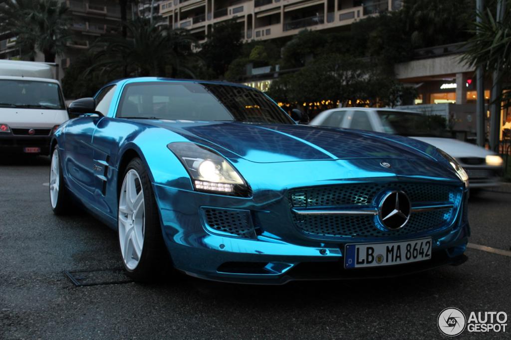 MercedesBenz SLS AMG Electric Drive spotted in Monaco