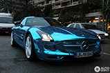 Mercedes-Benz SLS AMG Electric Drive gespot in Monaco