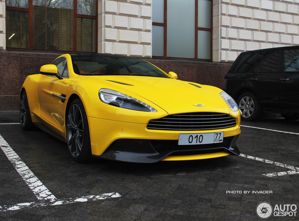 Decadency In Moscow Sunburst Yellow Coloured Aston Martin