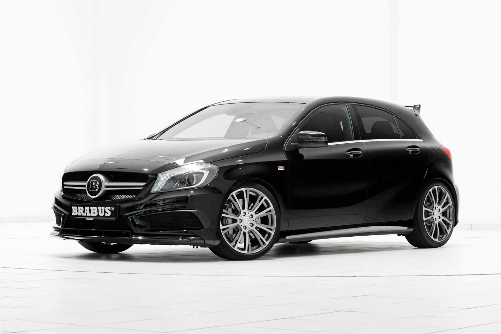 brabus gives the a 45 amg some extra power. Black Bedroom Furniture Sets. Home Design Ideas