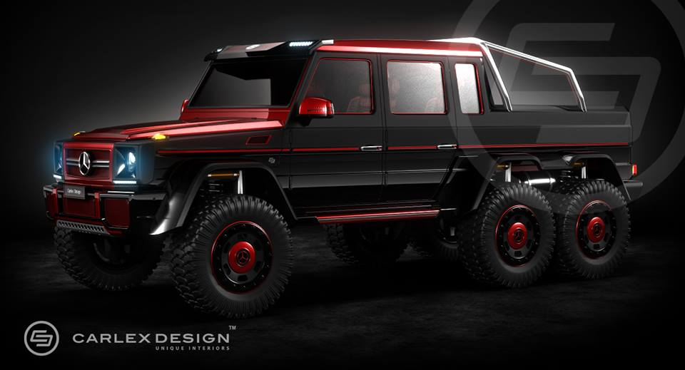 popular mercedes benz g 63 6x6 by carlex design. Black Bedroom Furniture Sets. Home Design Ideas
