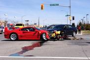 Ferrari F40 distrutta durante un Test Drive