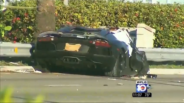tragic accident with a lamborghini aventador lp700 4 in miami. Black Bedroom Furniture Sets. Home Design Ideas