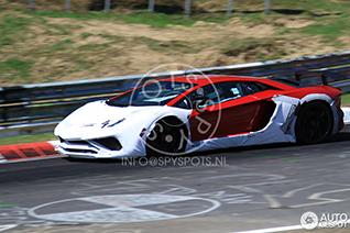 Lamborghini Aventador SuperVeloce gespot op de Ring