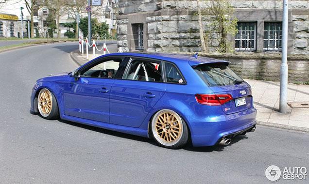 Opvallende Audi RS3 gespot