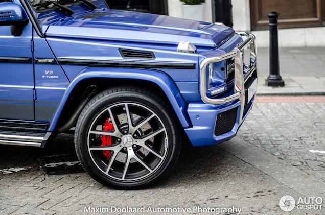 Blauwe Mercedes-AMG G63 Edition 463 maakt London onveilig