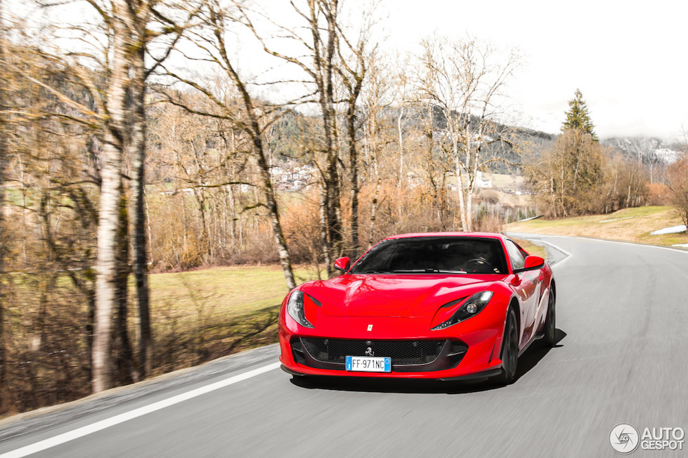 Amazing photoshoot of the Ferrari 812 Superfast