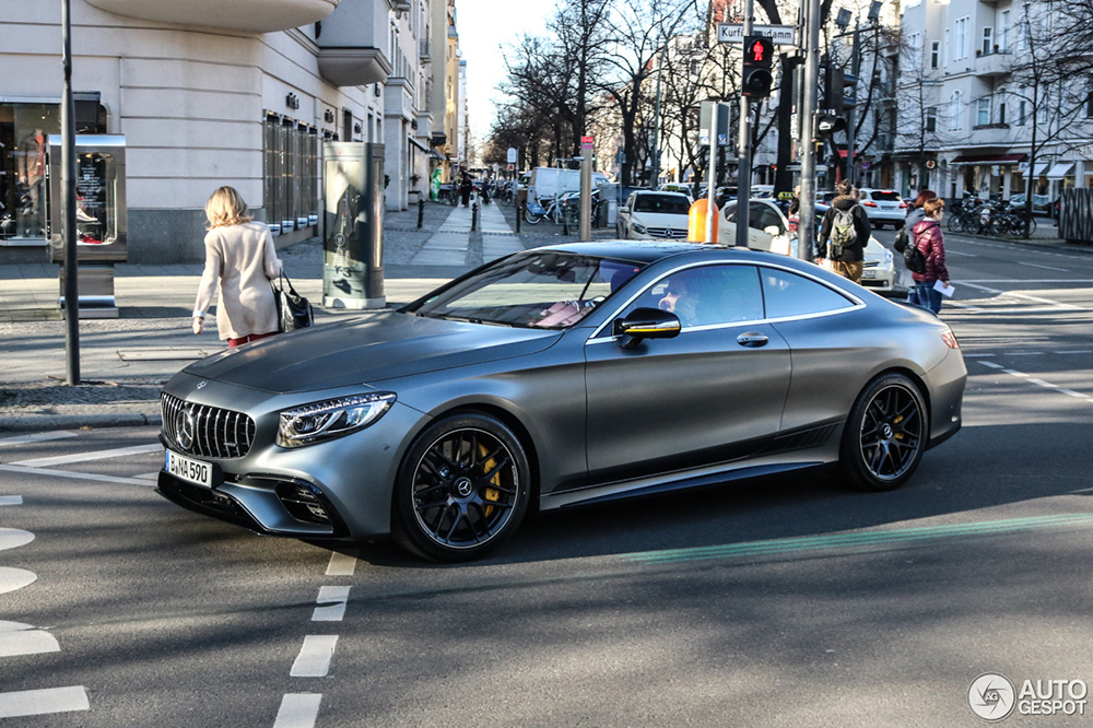 Primeur: Mercedes-AMG S 63 Coupé Yellow Night Edition