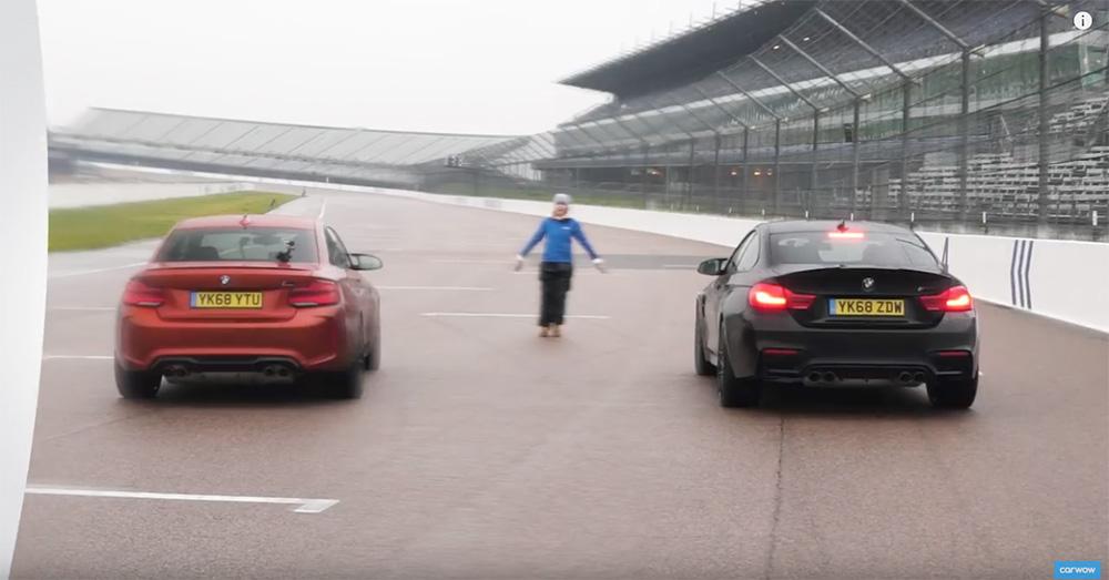 Filmpje: BMW M2 CS neemt het op tegen de M4 CS