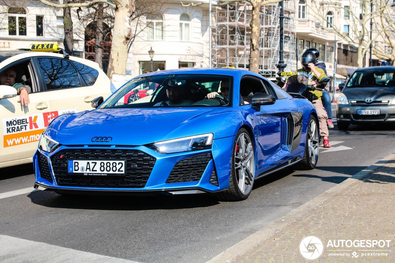 Audi R8 V10 Performance is potente verschijning