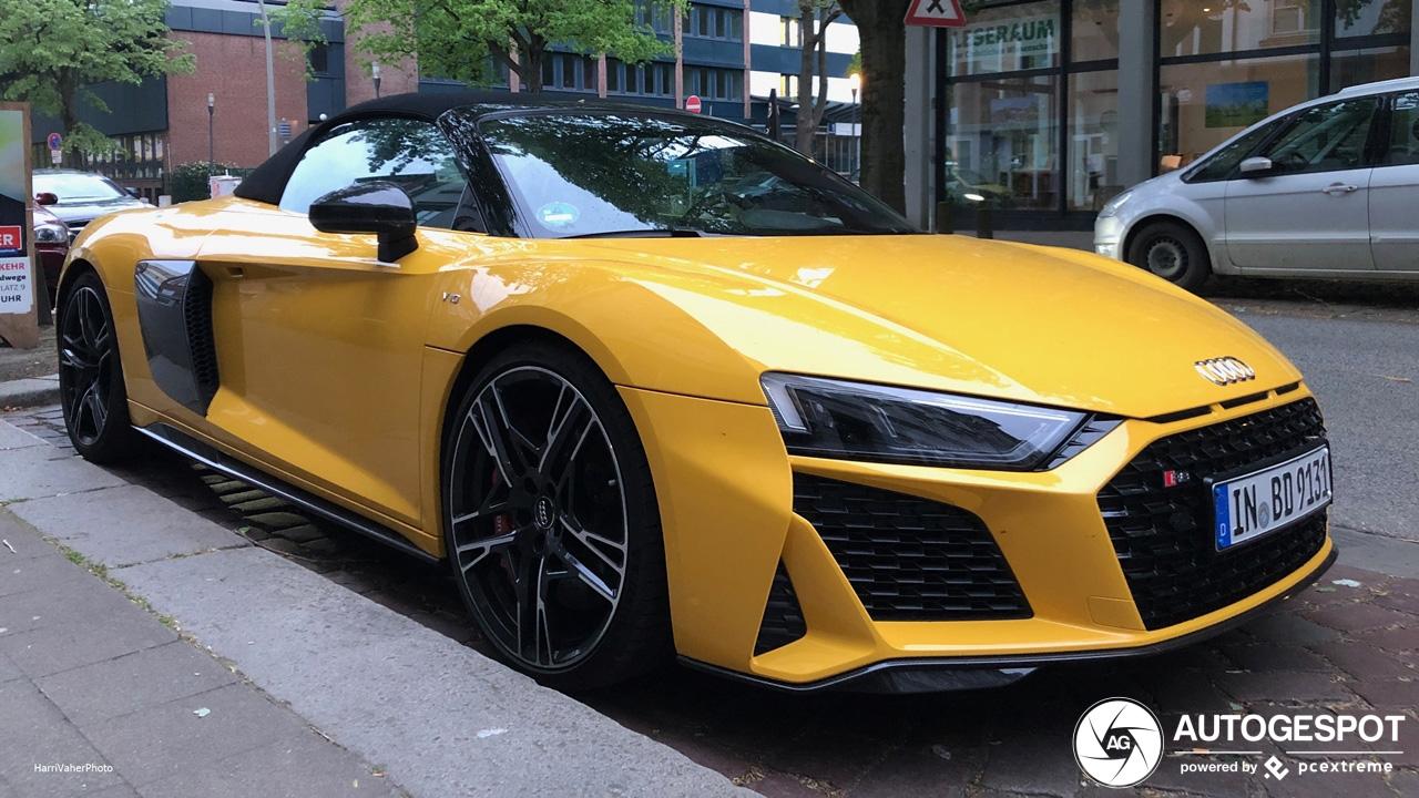 Primeur gespot: Audi R8 V10 Spyder Performance 2019