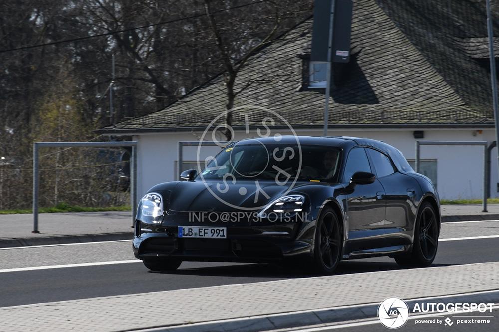Porsche Taycan Sport Turismo laat zijn uiterlijk zien