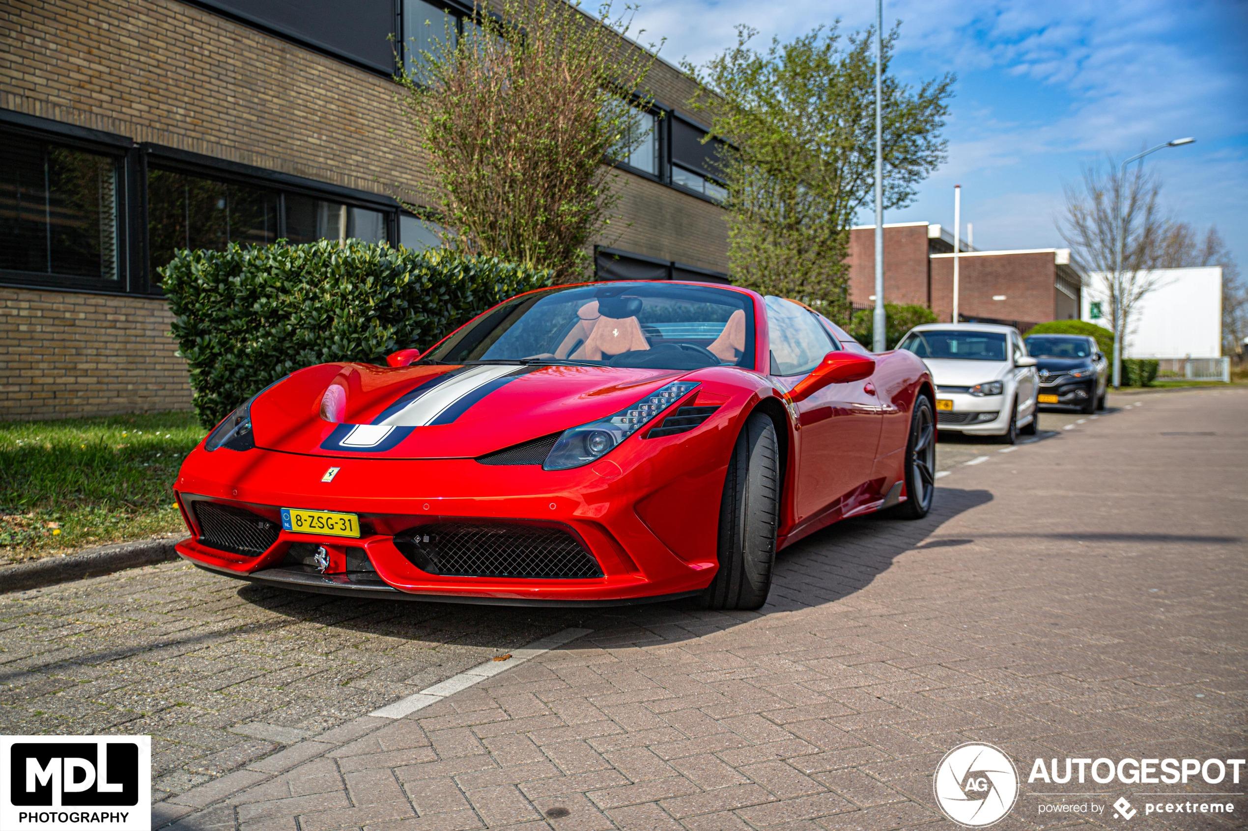 Spot van de dag: Ferrari 458 Speciale A