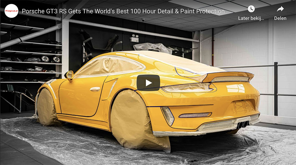 Movie: Porsche 991 GT3 RS is restored to factory state