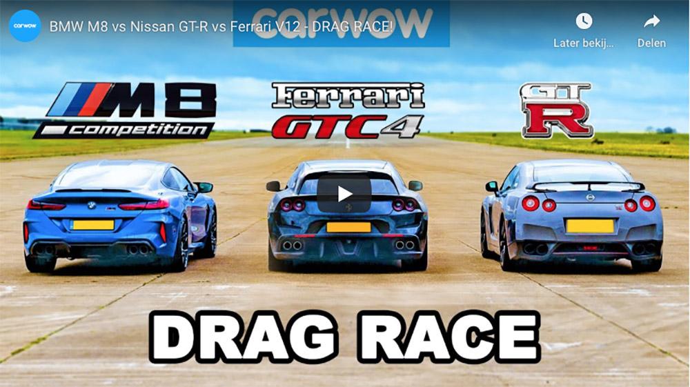 Legt de BMW M8 Competition het af tegen een Nissan GT-R?
