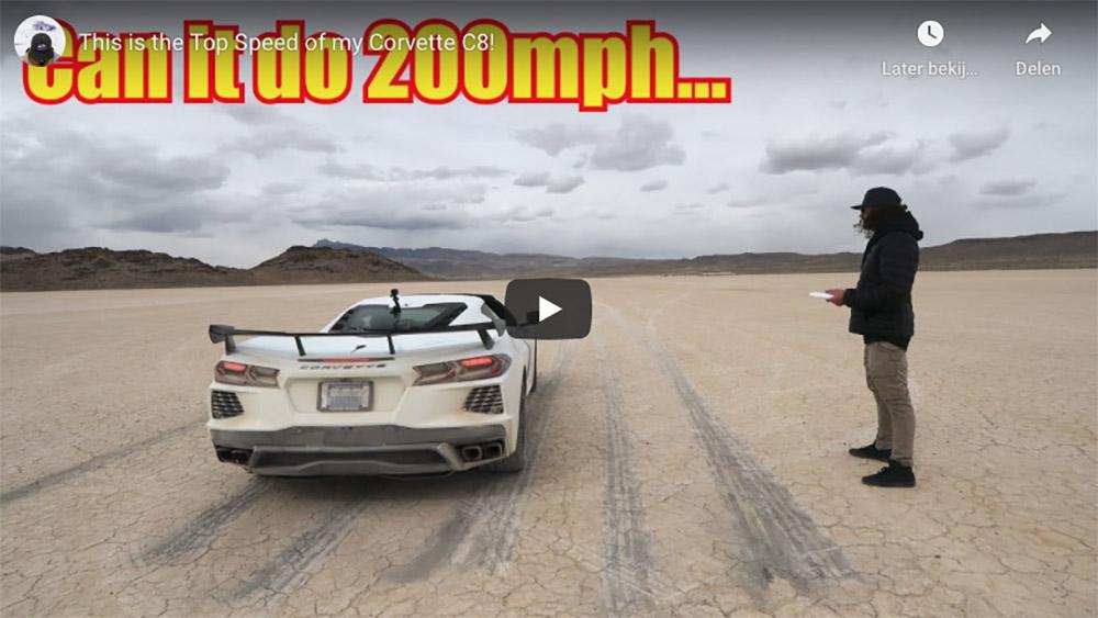 Filmpje: haalt de Corvette C8 meer dan 320 km/u?