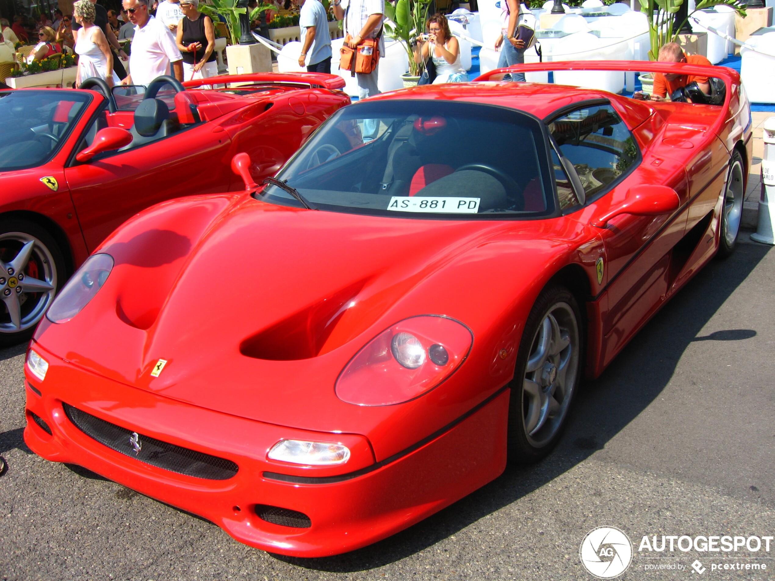 Ferrari F50 in Monaco brengt ons terug in de tijd